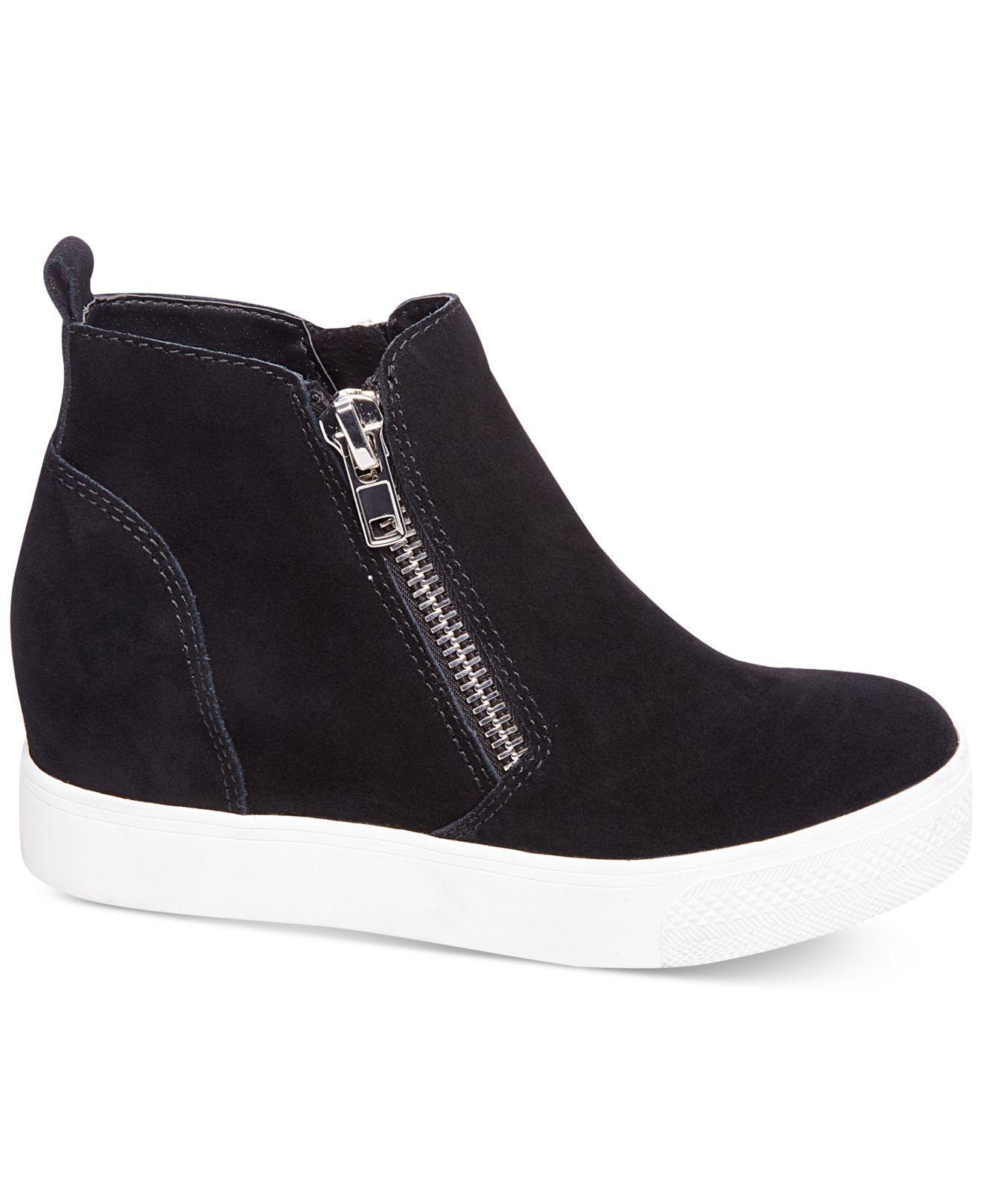b4bd8ed7c74 Lyst - Steve Madden Women s Wedgie Wedge Sneakers in Black