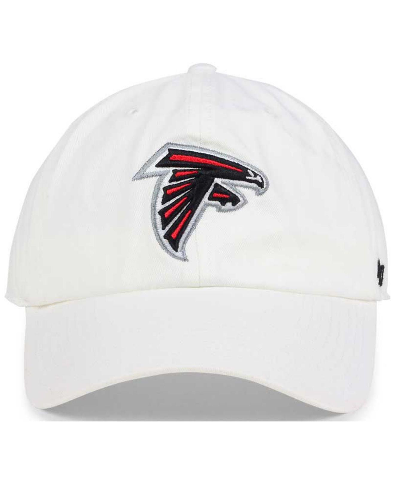 premium selection 74ff4 c192a Lyst - 47 Brand Atlanta Falcons Clean Up Strapback Cap in White for Men