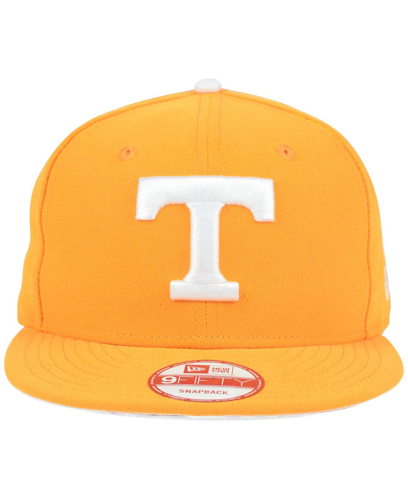 new style b914e ebbcd Lyst - KTZ Tennessee Volunteers Core 9fifty Snapback Cap in Orange for Men