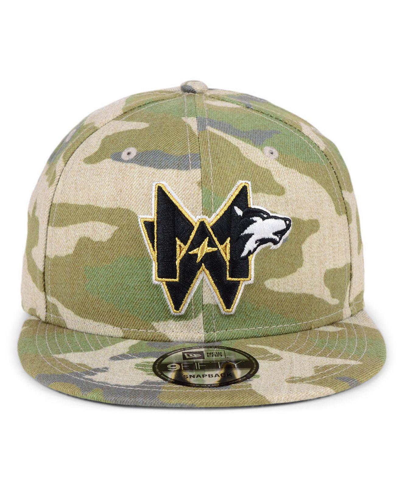 half off 56306 026ab KTZ Minnesota Timberwolves Combo Camo 9fifty Snapback Cap in Green ...
