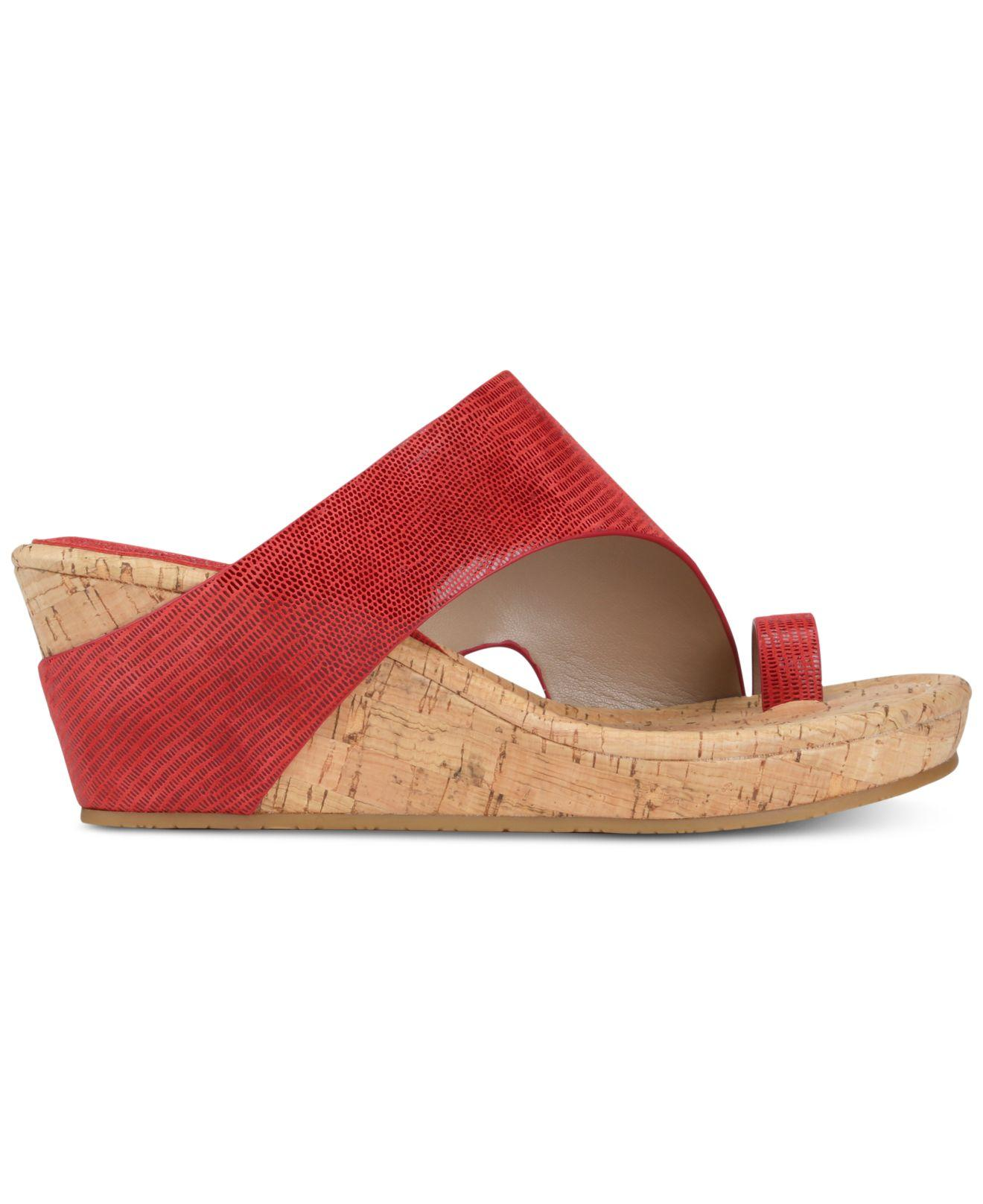 4f8ae31ef5ac Lyst - Donald J Pliner Gyer Wedge Sandals in Red - Save 8%