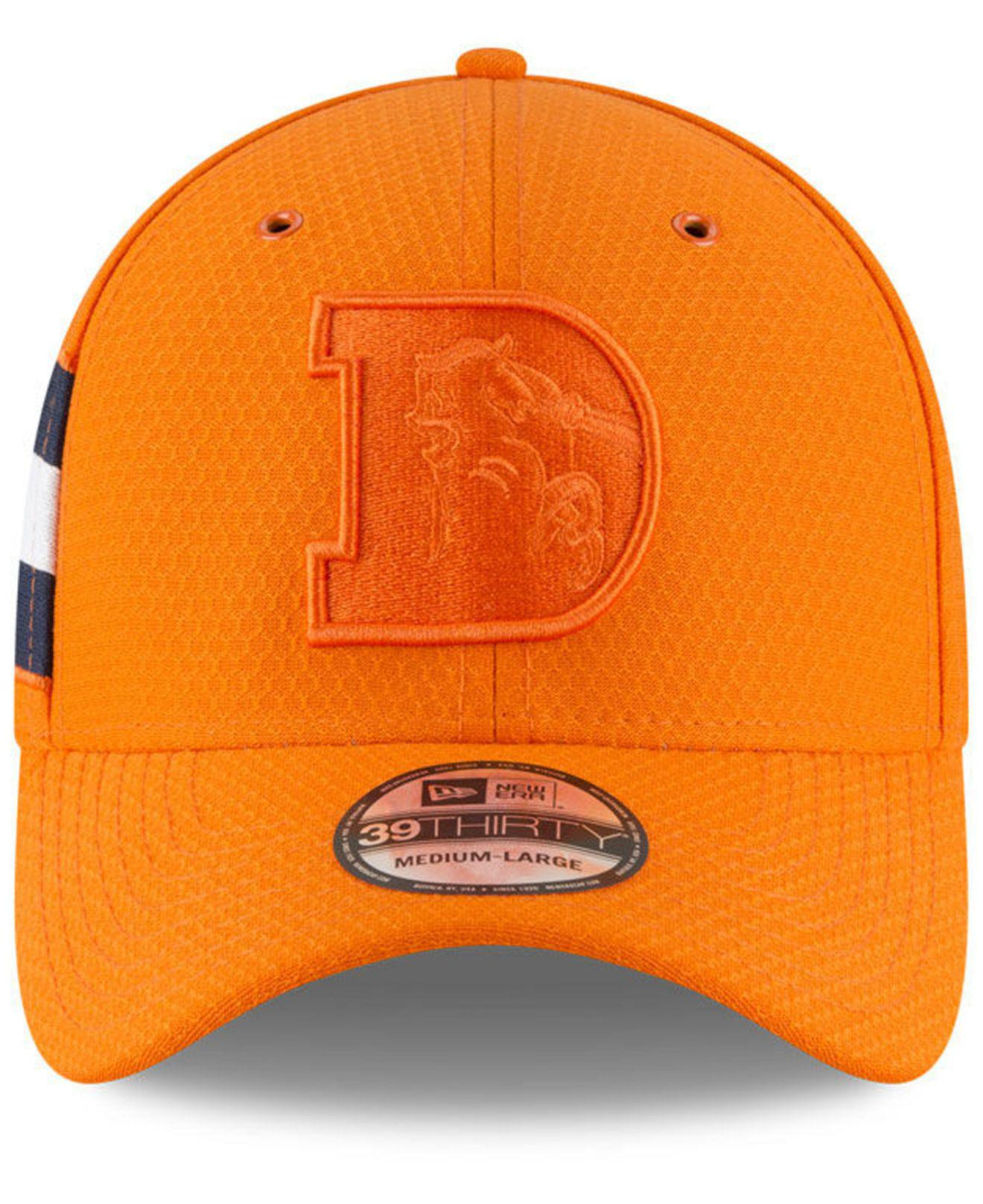 1464f05ac Lyst - KTZ Denver Broncos Official Color Rush 39thirty Stretch Fitted Cap  in Orange for Men