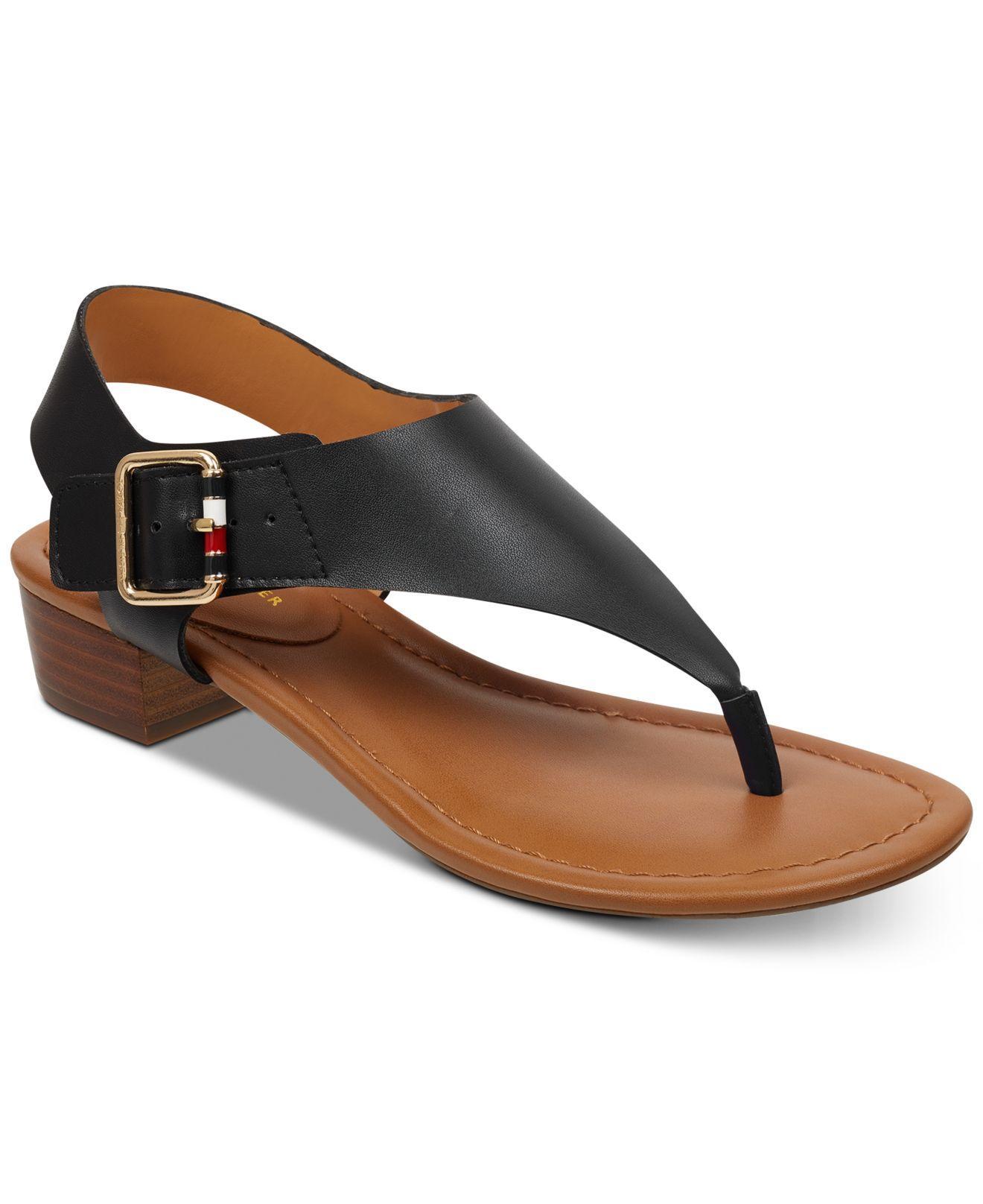 1062f4d8911b Lyst - Tommy Hilfiger Kamea Sandals in Black