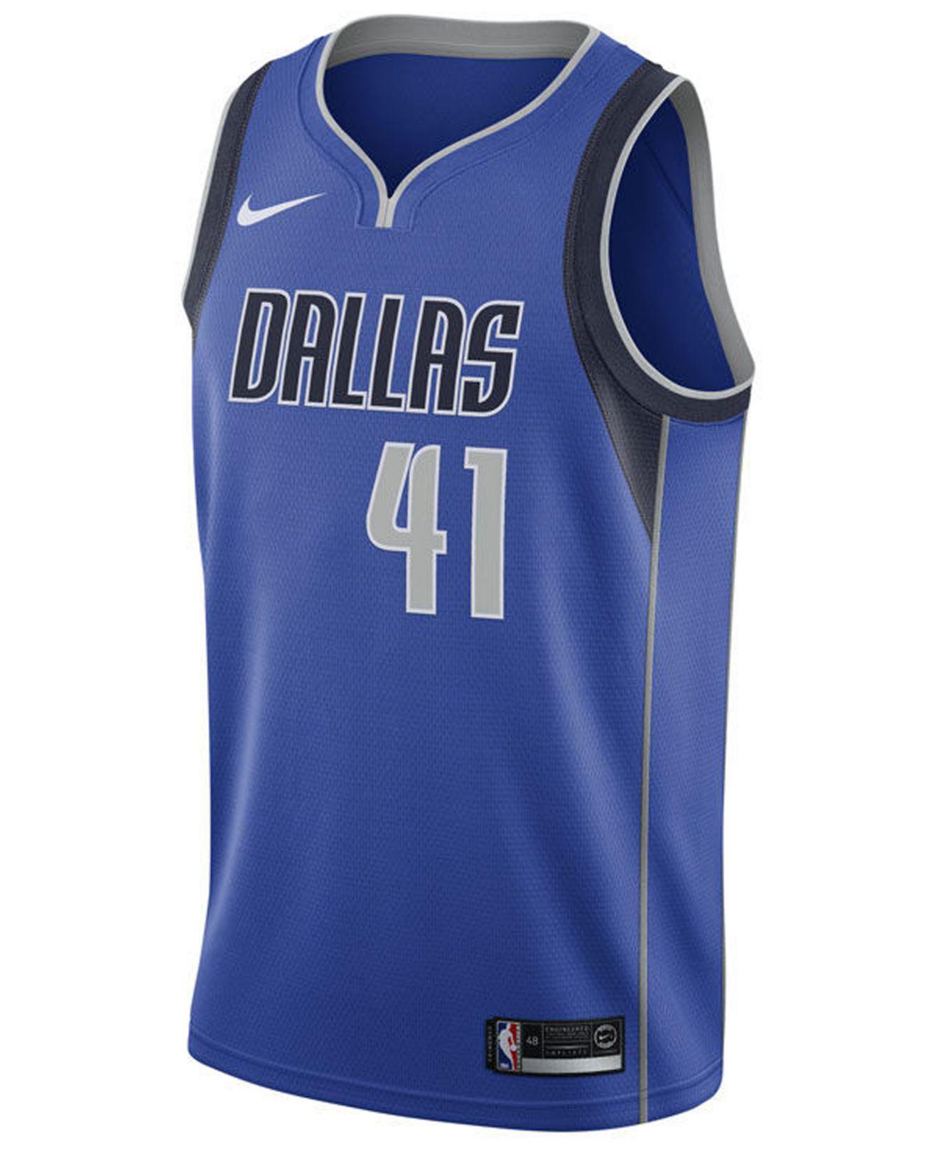 73bd9134f Lyst - Nike Dirk Nowitzki Dallas Mavericks Icon Swingman Jersey in Blue for  Men