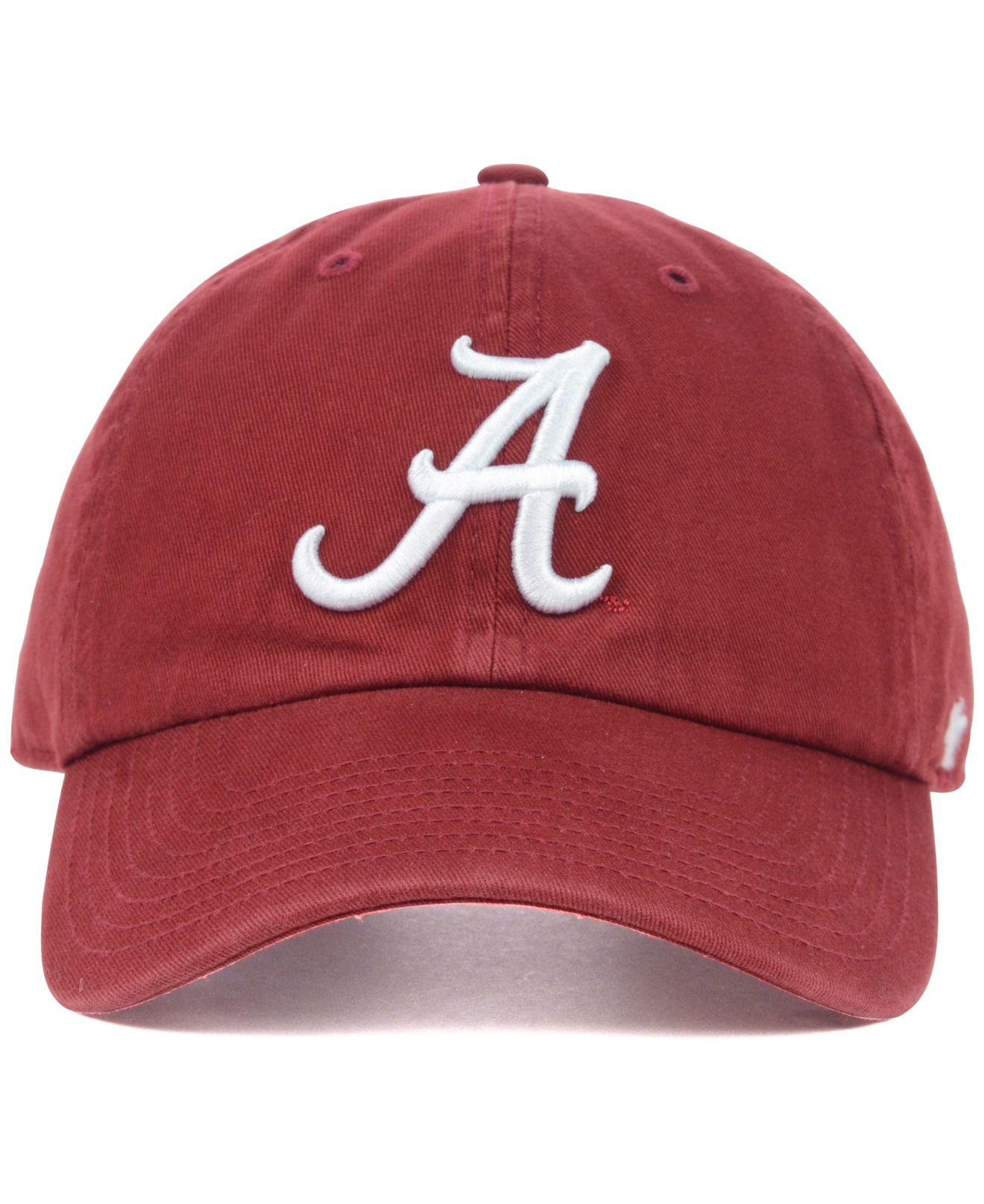 official photos 0a8af 424fc ... top quality lyst 47 brand alabama crimson tide ncaa clean up cap in red  for men