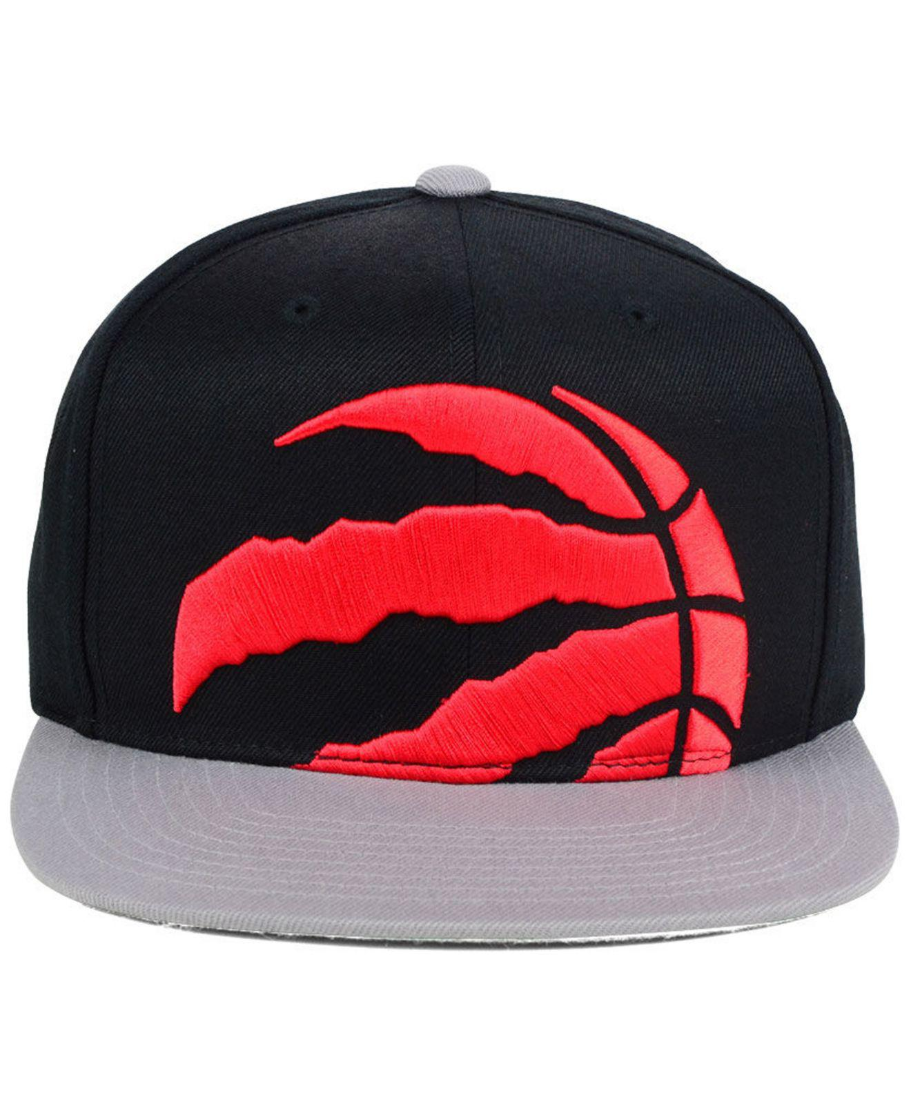 8babbd35091095 ... hot lyst mitchell ness toronto raptors cropped xl logo snapback cap for  men c45bd fef53