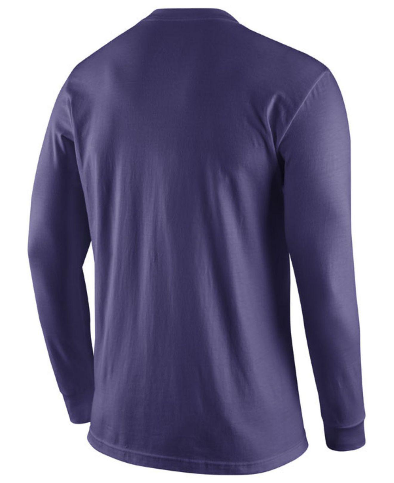 ea8b2dd33 Lyst - Nike Men's Lsu Tigers Logo Long-sleeve T-shirt in Purple for Men
