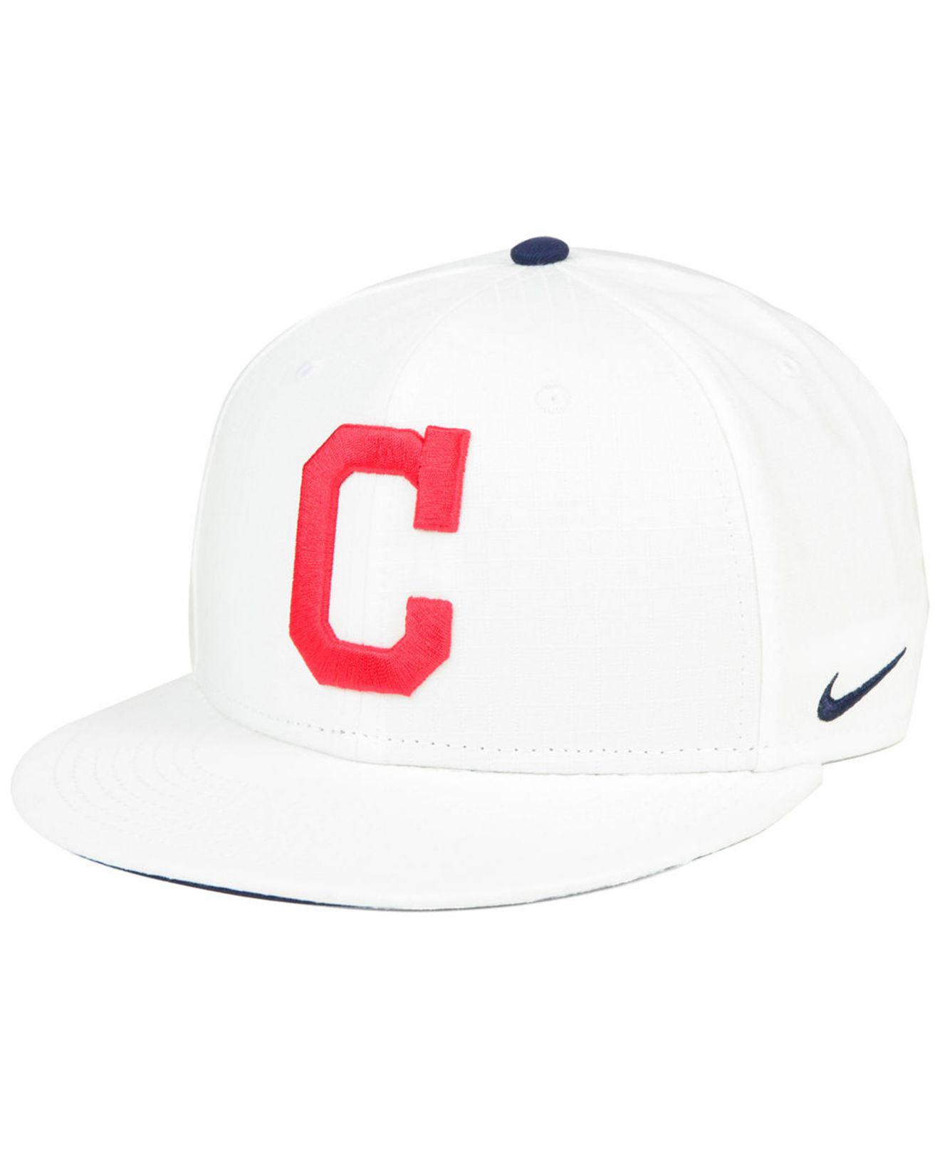 new product d8381 bf6f7 ... canada nike. mens cleveland indians white ripstop snapback cap 732a7  a81fe