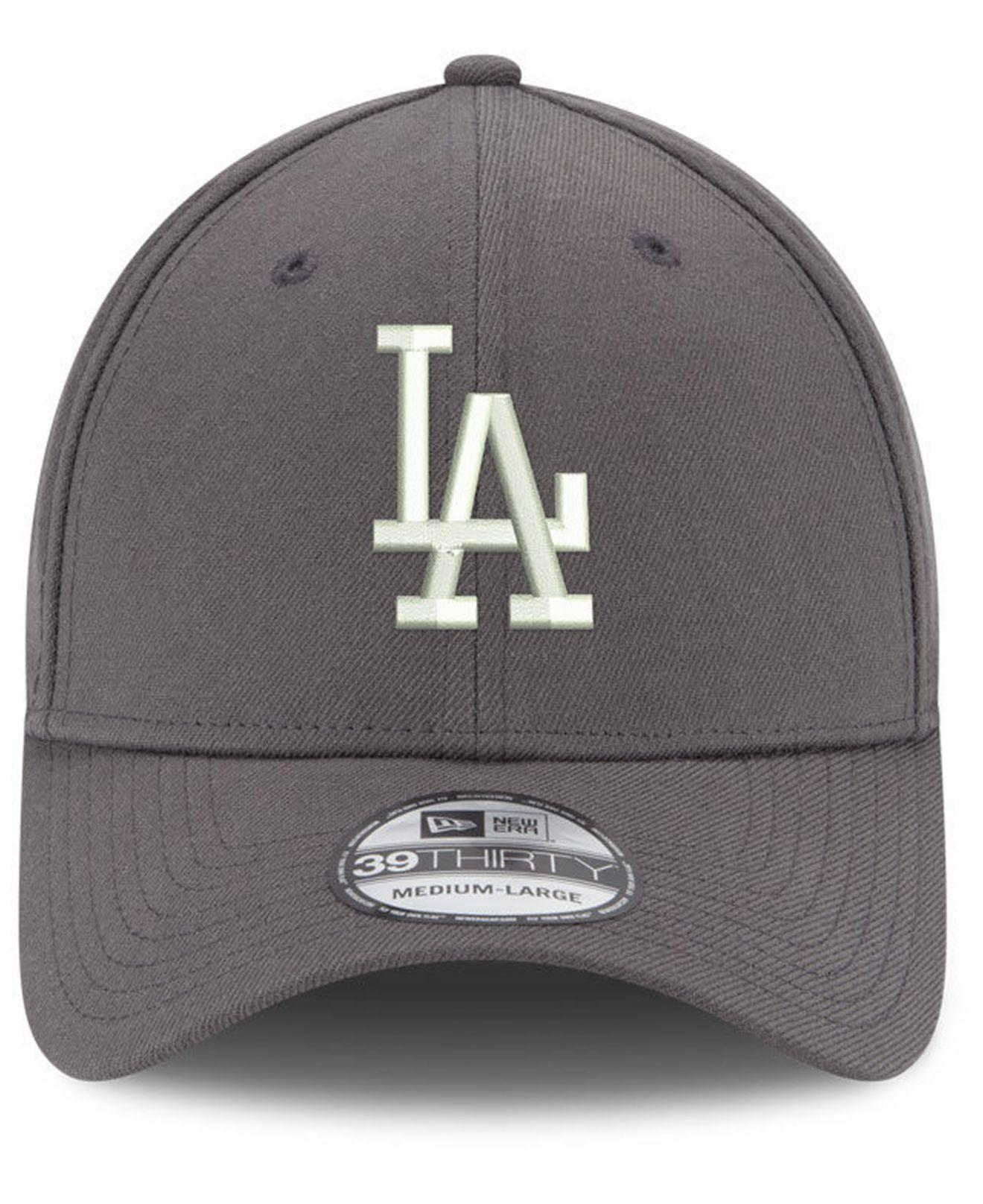 size 40 9b74d d2734 Lyst - KTZ Los Angeles Dodgers Dub Classic 39thirty Stretch Fitted Cap in  Gray for Men