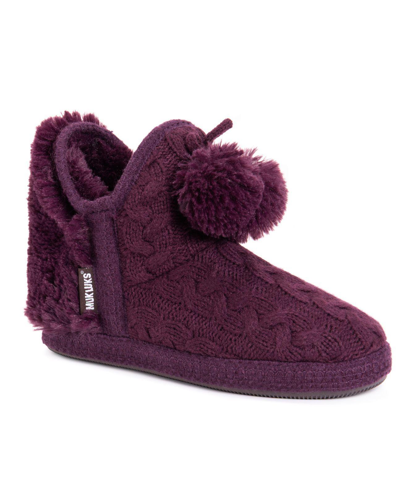 29d973ec2034 Lyst - Muk Luks Amira Boot Slippers in Purple