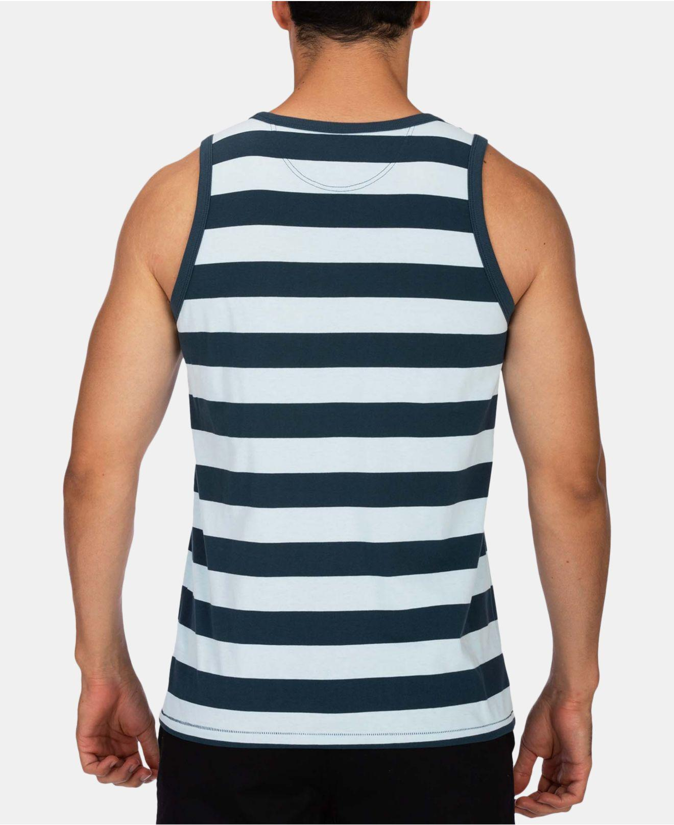 e98593c910b30 Lyst - Hurley Harvey Dri-fit Stripe Pocket Tank in Blue for Men