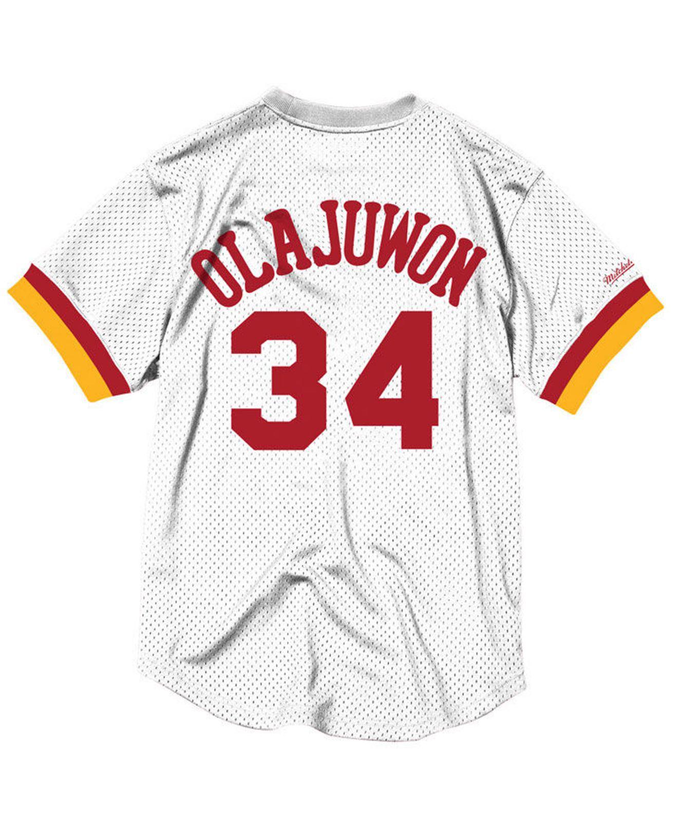 buy online 324c1 86a0f get vintage hakeem olajuwon houston rockets gold jersey ...