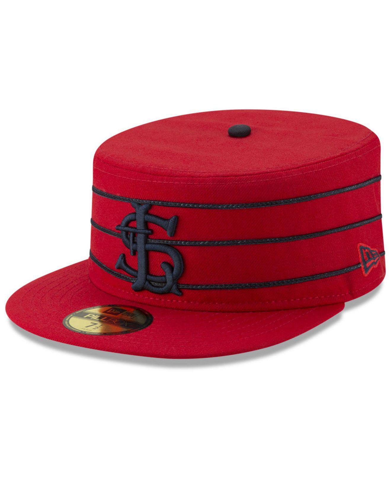 save off dd20c 86ae7 ... czech ktz. mens red st. louis cardinals pillbox 59fifty fitted cap  f5c75 828c9