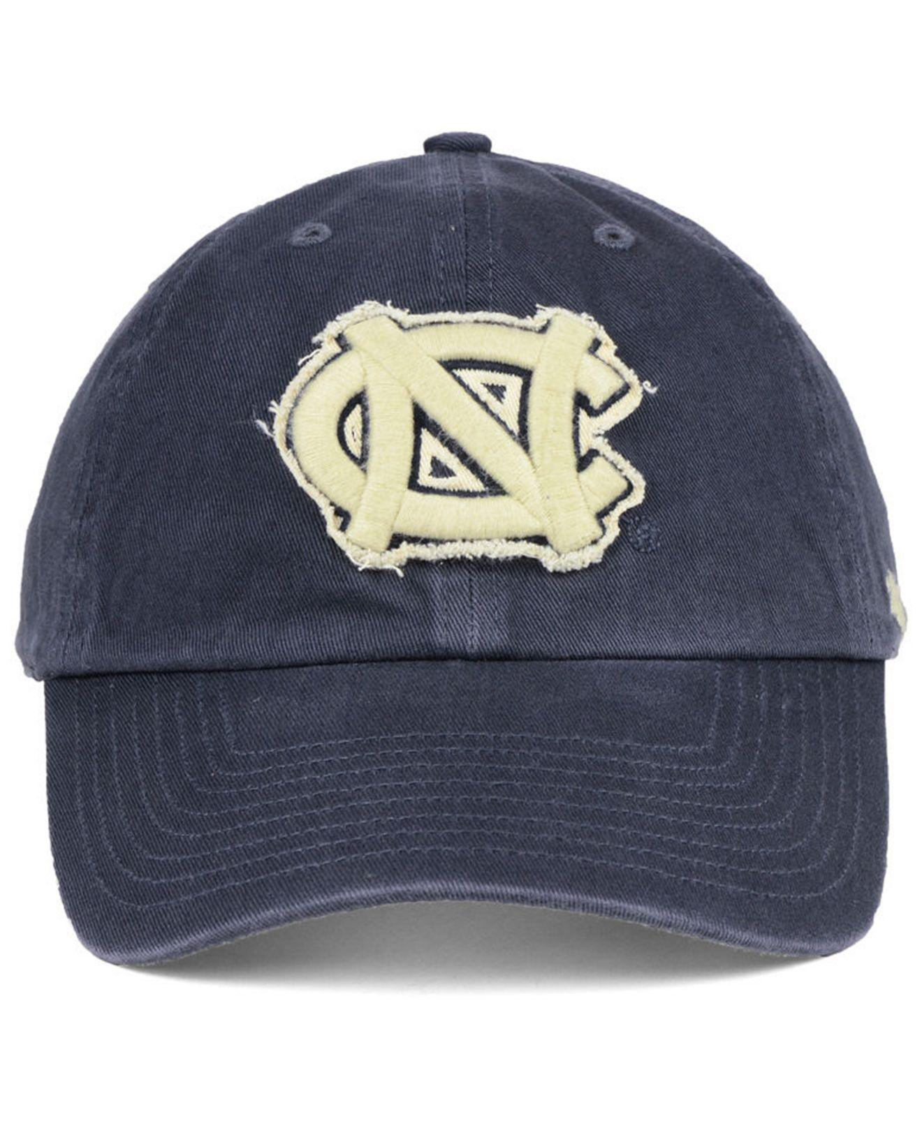 super popular 0d622 af454 ... low price lyst 47 brand north carolina tar heels double out clean up  cap in blue