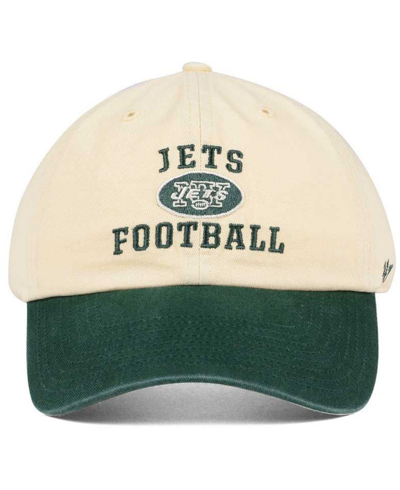 wholesale dealer f4690 07a98 ... best price lyst 47 brand new york jets steady two tone clean up cap in  green