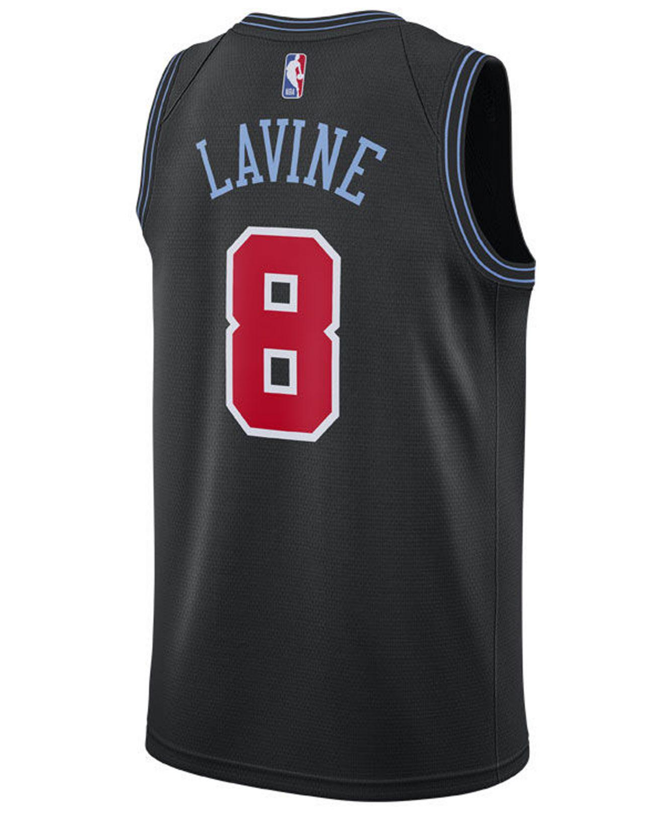 04793545228d Nike Nba Chicago Bulls Lavine City Jersey in Black for Men - Lyst