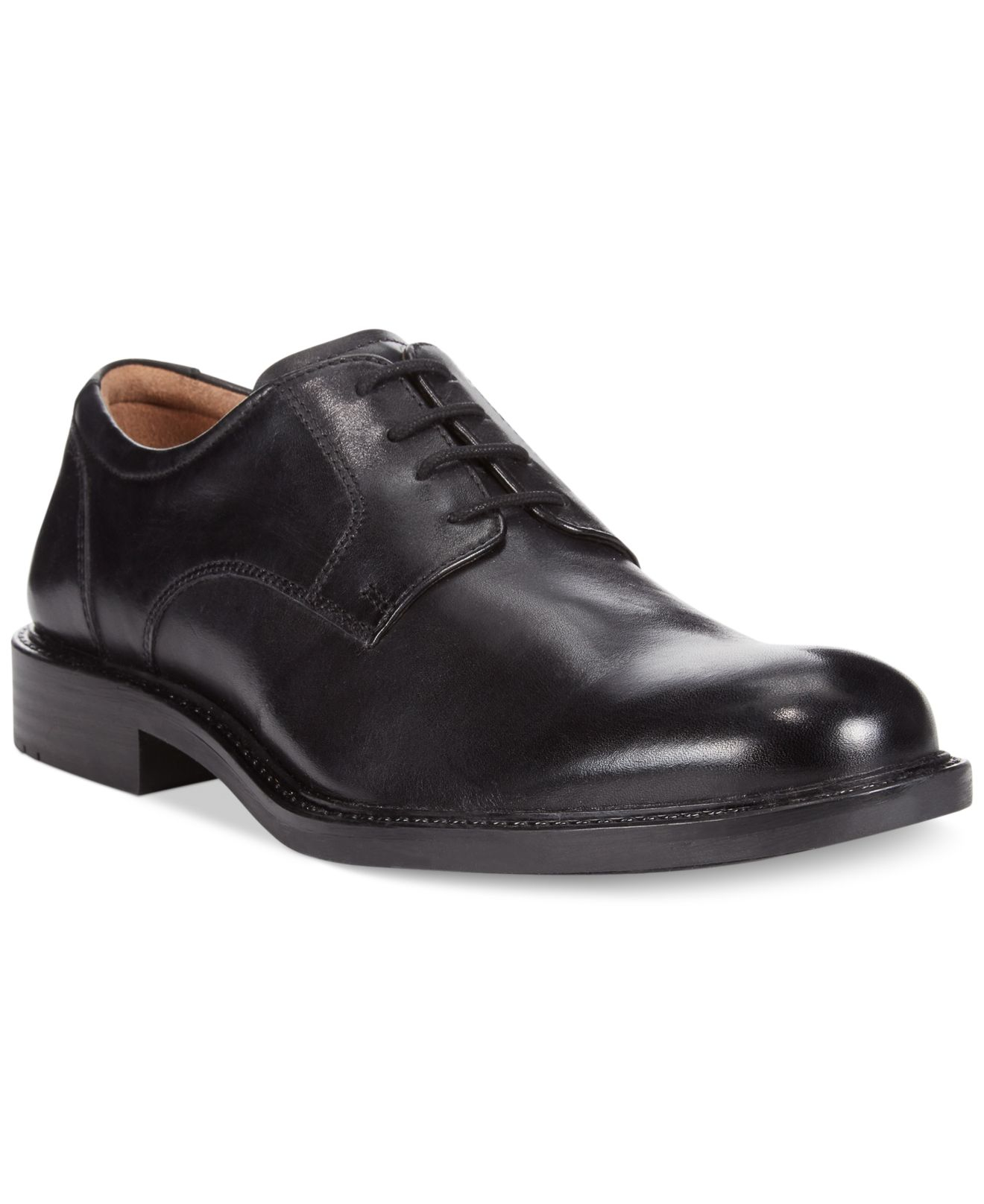 Johnston Amp Murphy Tabor Plain Toe Oxfords In Black For Men