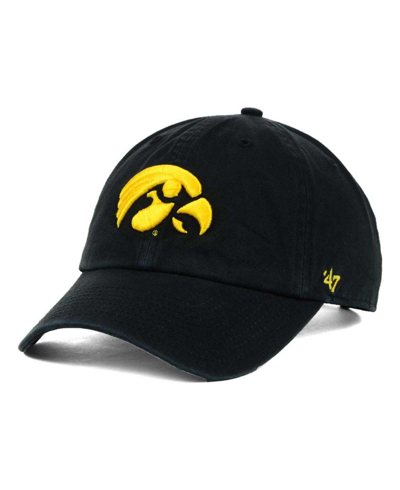 c3908b88281cd Lyst - 47 Brand Iowa Hawkeyes Clean-up Cap in Black for Men