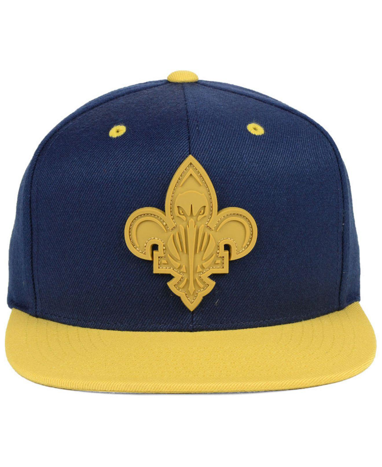 the latest dc44e 40d2f ... spain lyst mitchell ness new orleans pelicans rubber weld snapback cap  in blue for men 53eb1
