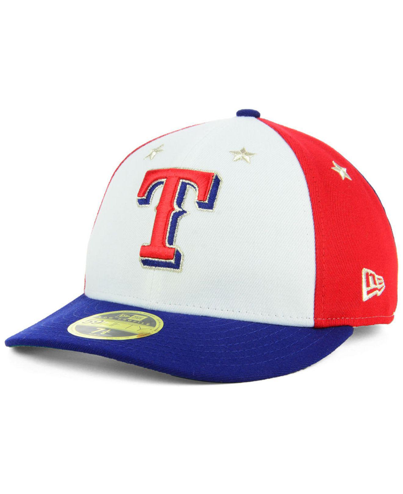 huge selection of 559f5 ef222 KTZ Texas Rangers All Star Game Patch Low Profile 59fifty Fitted Cap ...