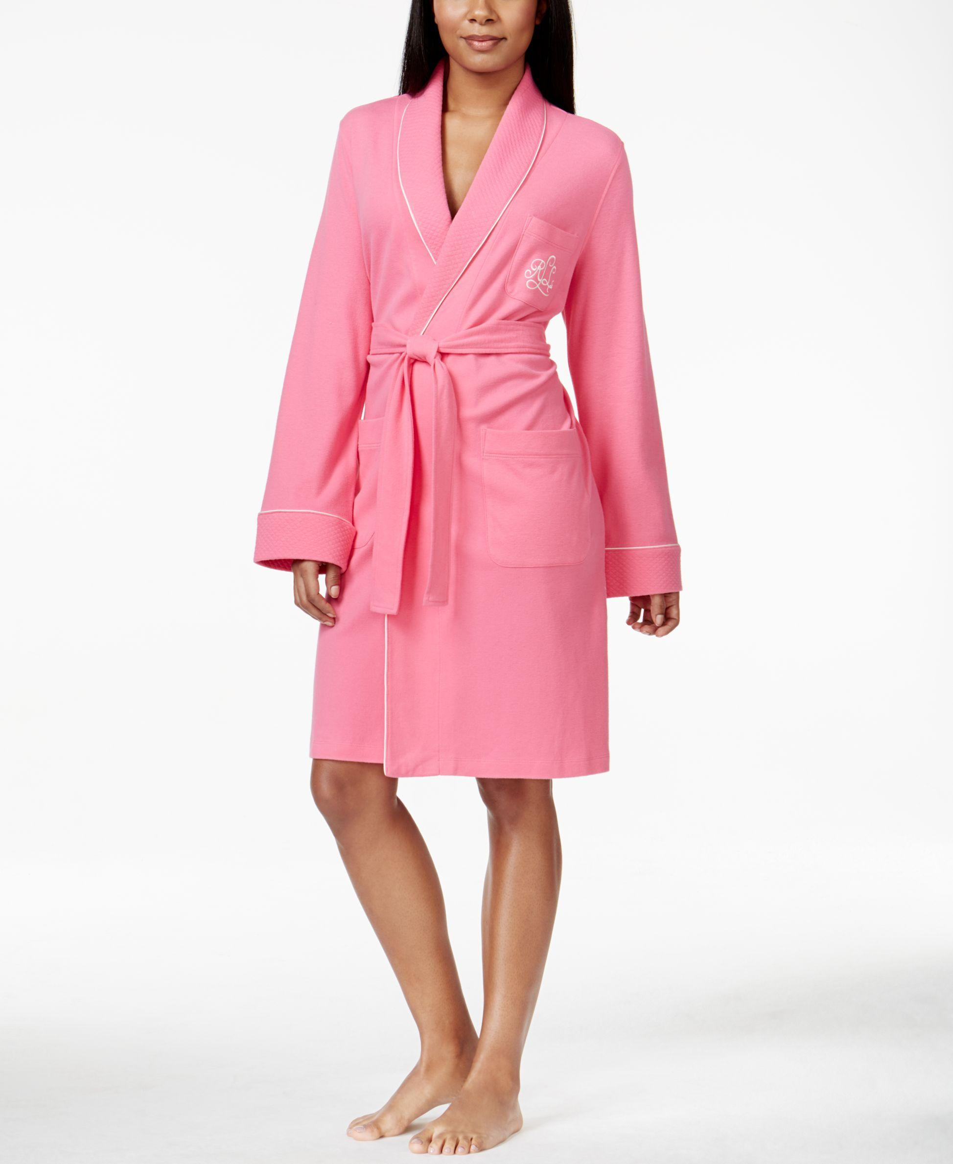 Lauren by ralph lauren Quilted Shawl Collar Short Robe in ...