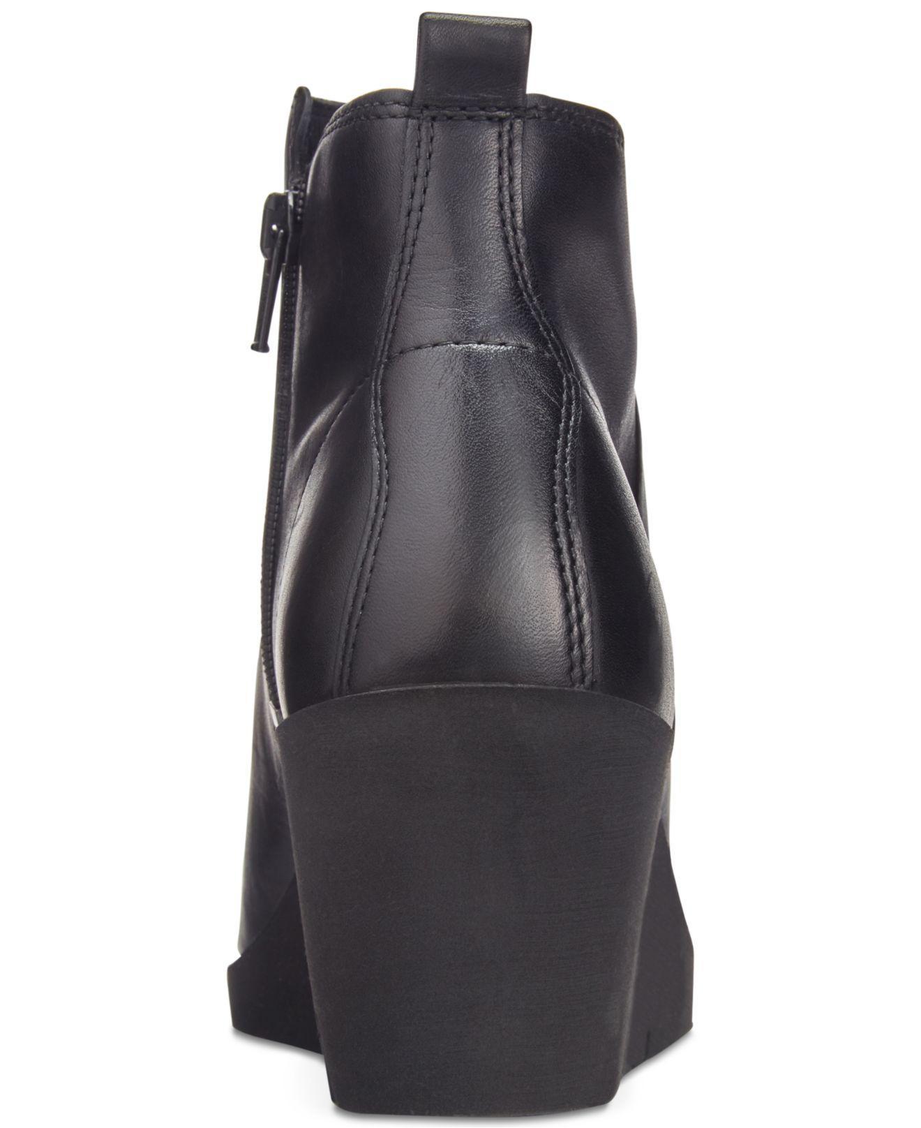6aaa582ea1fe Lyst - Ecco Bella Wedge Booties in Black