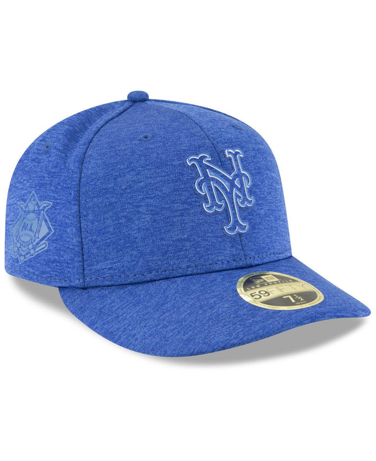 15a4b3a59ab Lyst - KTZ New York Mets Clubhouse Low Crown 59fifty Fitted Cap in ...