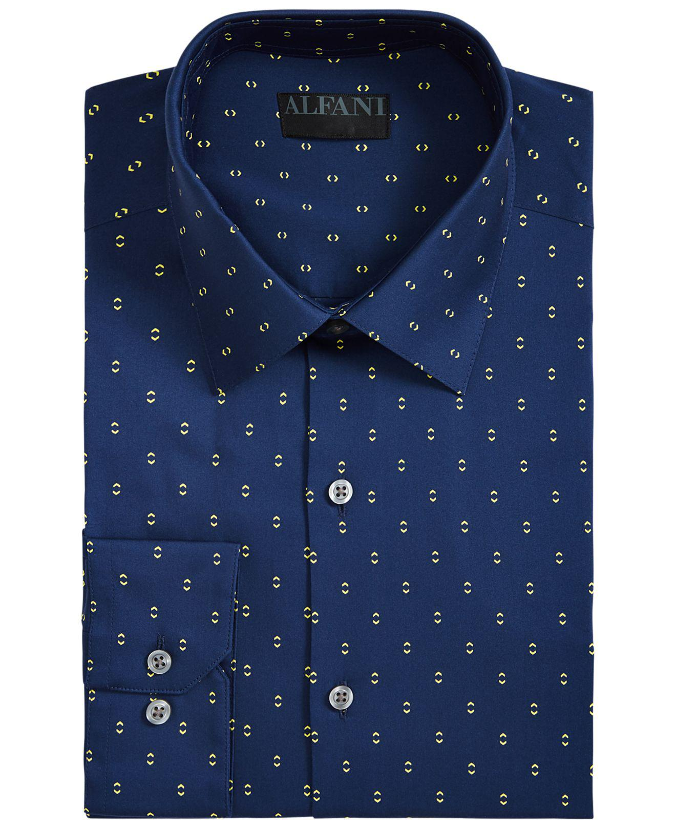 Lyst Alfani Classic Fit Alfatech Double Arrow Shirt Created For