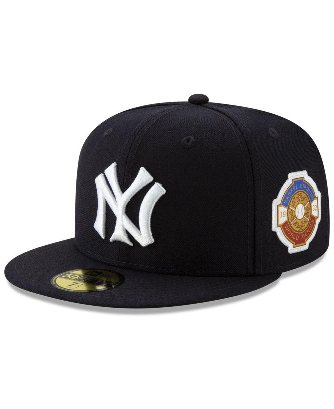 quality design dda53 6b06b KTZ. Men s Black New York Yankees World Series Patch 59fifty Cap