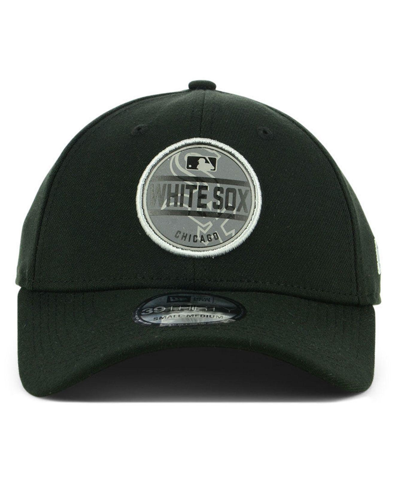 detailed look 678d5 7c91a Lyst - KTZ Chicago White Sox Circle Reflect 39thirty Stretch Fitted Cap in  Black for Men