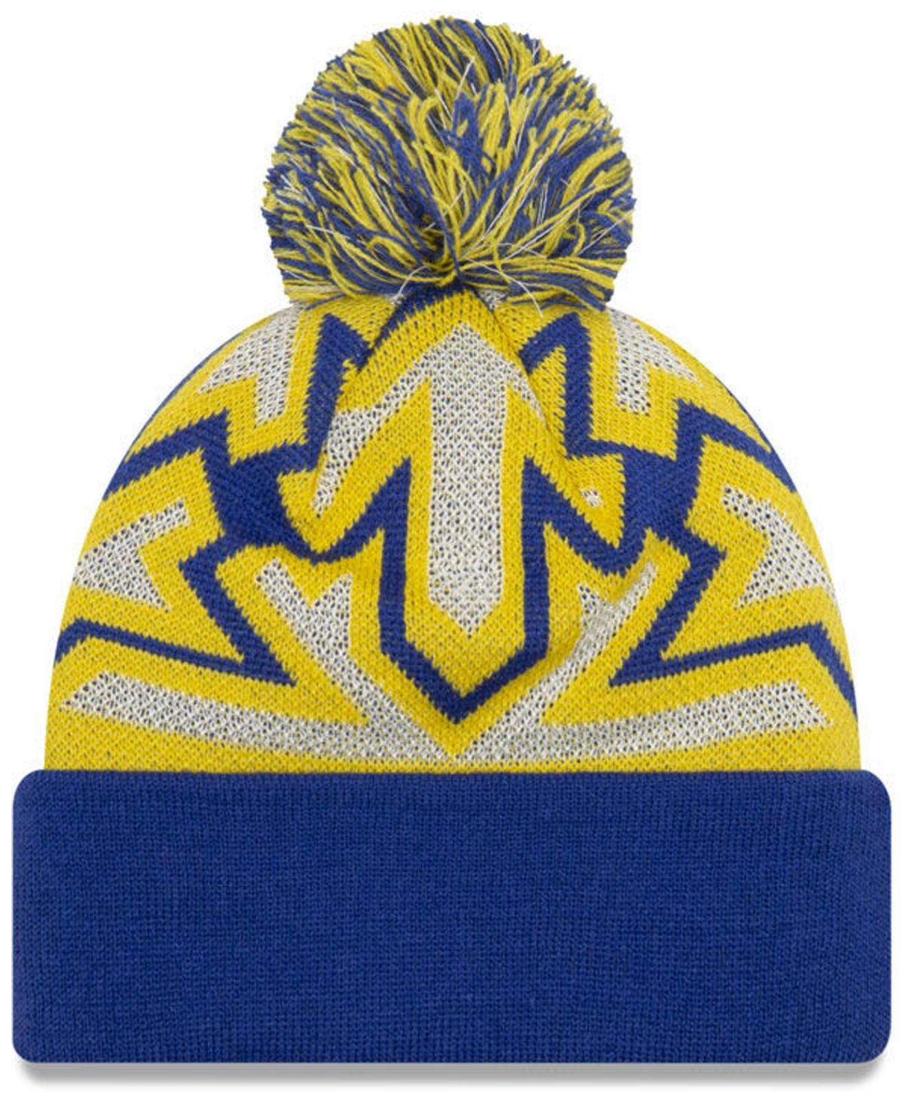 separation shoes 55a45 3e931 KTZ Golden State Warriors Glowflake Cuff Knit Hat in Yellow for Men - Lyst