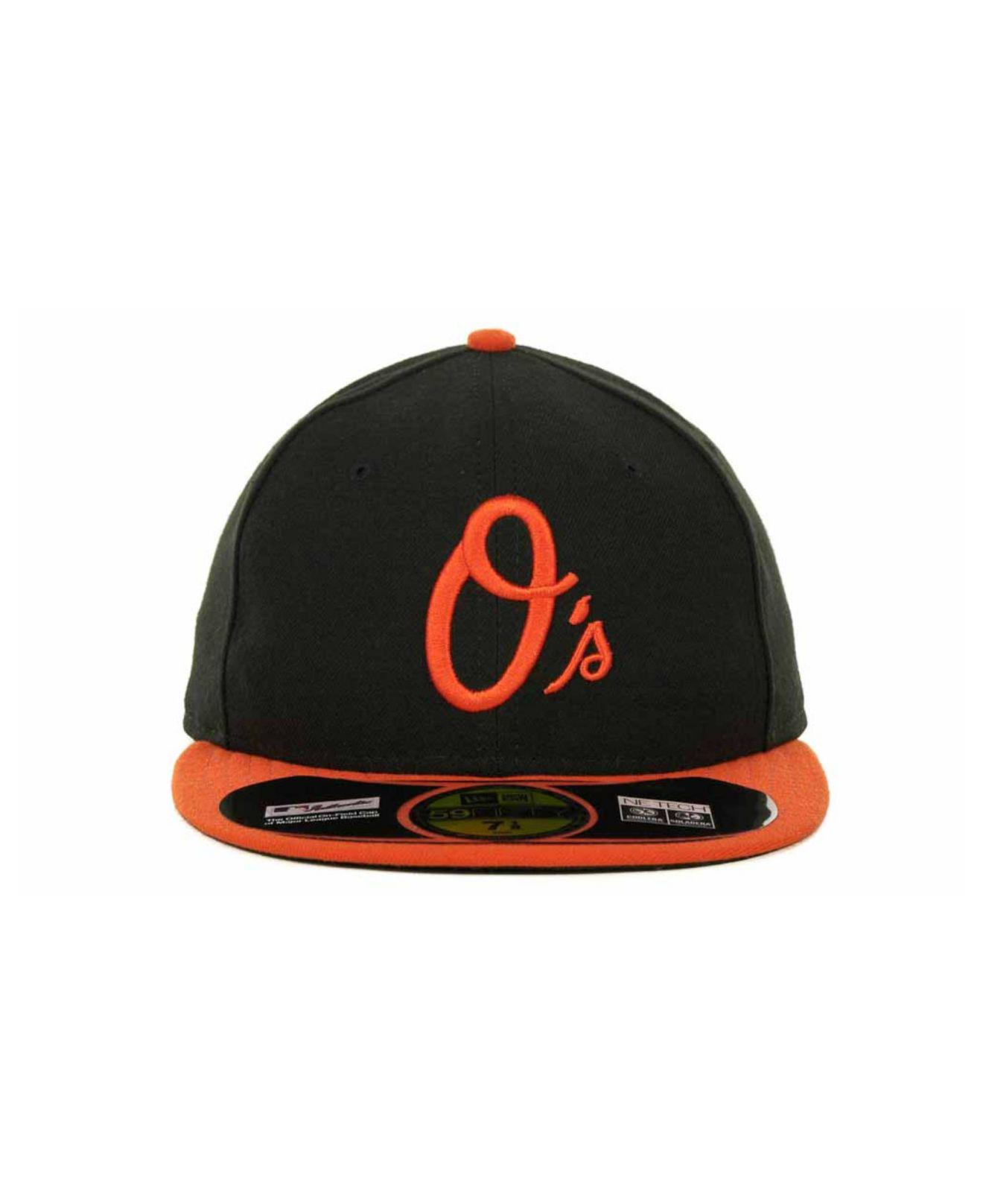 Lyst - KTZ Baltimore Orioles Authentic Collection 59fifty Hat in Black for  Men 32d9ef5c442d