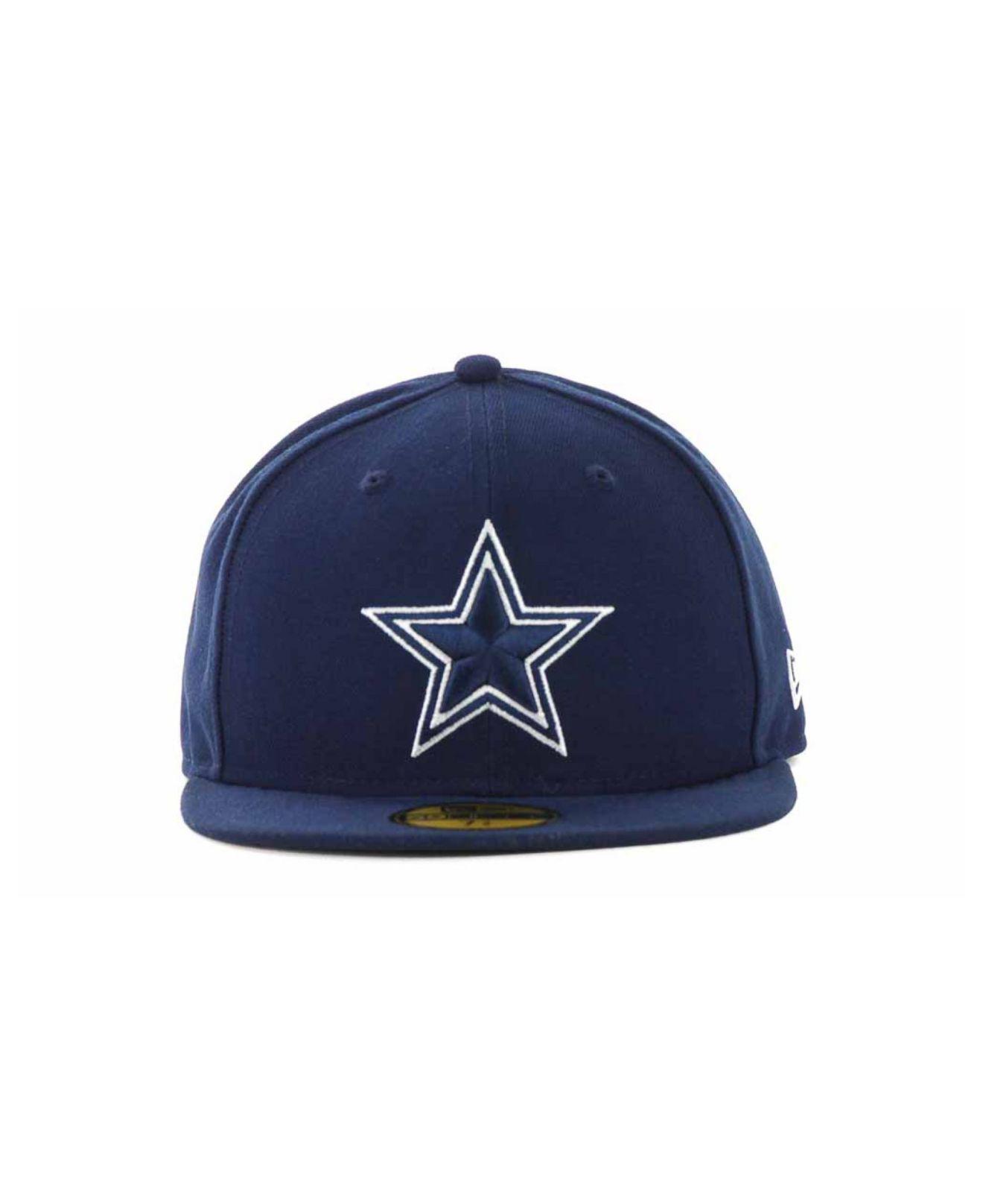 87627f123a6b3d ... ebay lyst ktz dallas cowboys nfl classic on field 59fifty cap in blue  for men a35c0