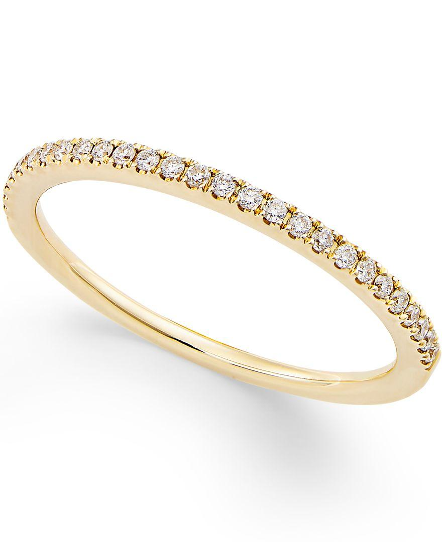 Macy s Diamond Pave Ring 1 8 Ct T w In 14k Yellow White Gold