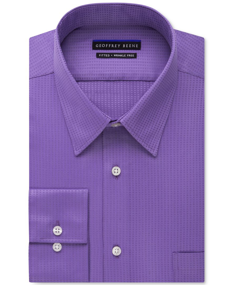 Geoffrey beene men 39 s fitted wrinkle free textured sateen Best wrinkle free dress shirts