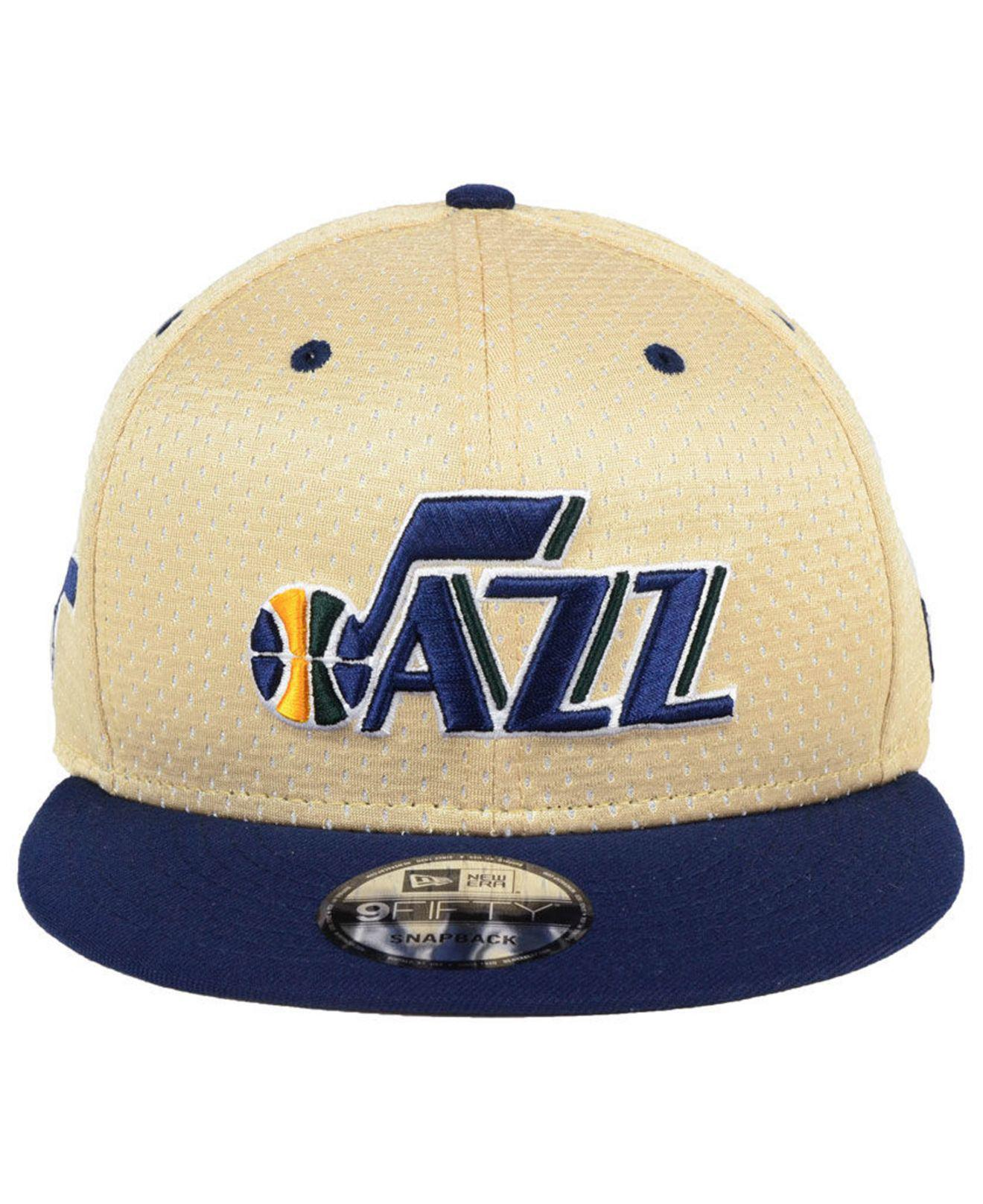 more photos 793b8 70f4c ... denmark lyst ktz utah jazz champagne 9fifty snapback cap in blue for  men 2a917 448ea