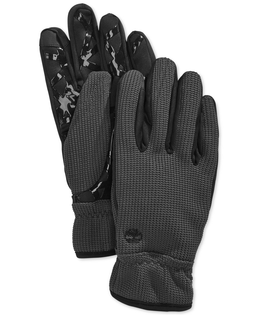 Nike Gloves Touch Screen: Timberland Windproof Knit Touchscreen Gloves In Gray For