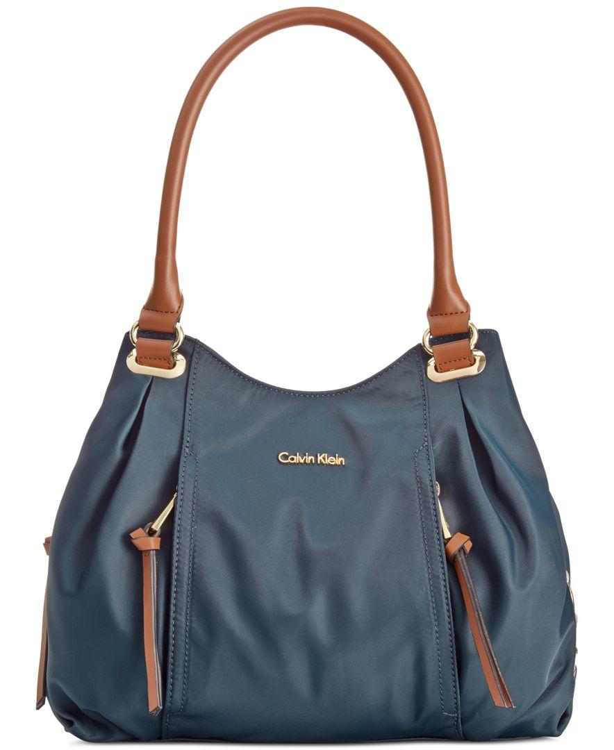 calvin klein dressy nylon shopper in blue lyst. Black Bedroom Furniture Sets. Home Design Ideas
