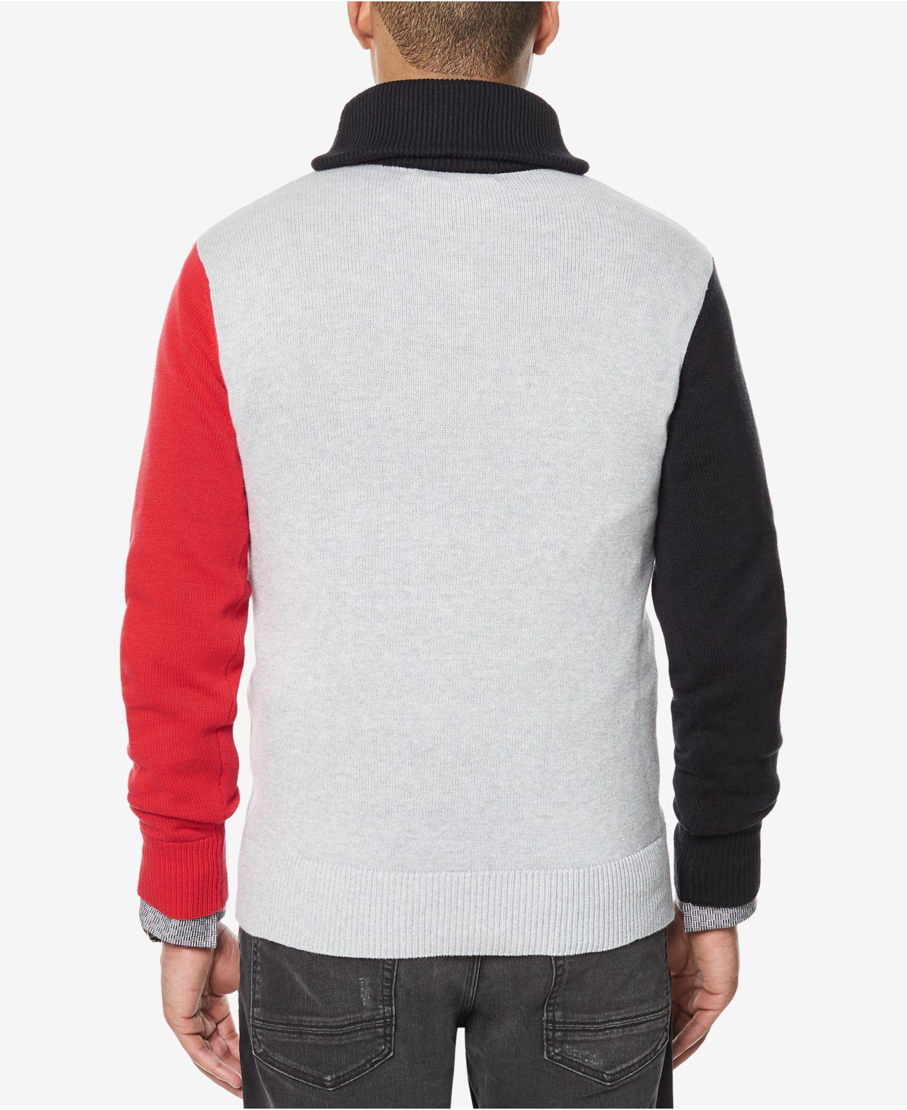 Sean john Men's Colorblocked Shawl-collar Sweater in Black for Men ...