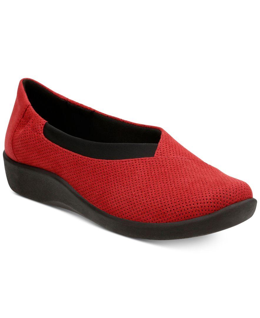 Clarks Sillian Holly Women S Shoes In Red