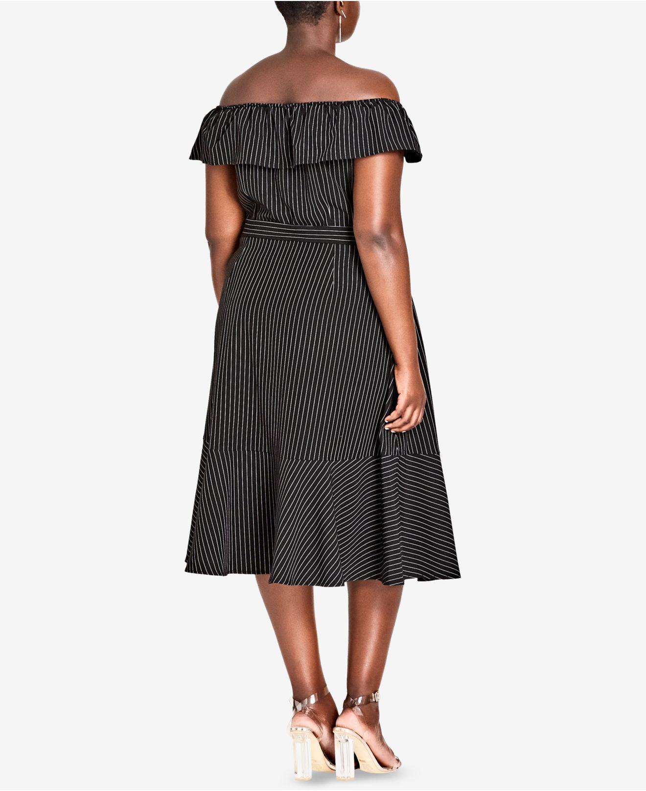 ffbf9219c7b1e Lyst - City Chic Trendy Plus Size Off-the-shoulder Dress in Black