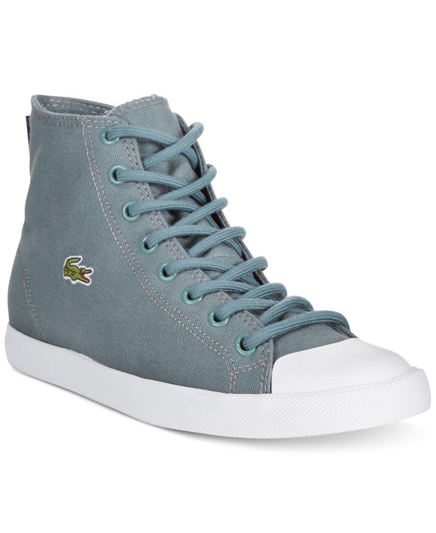 73ea123891669d Lyst - Lacoste L27 High-top Sneakers in Blue for Men
