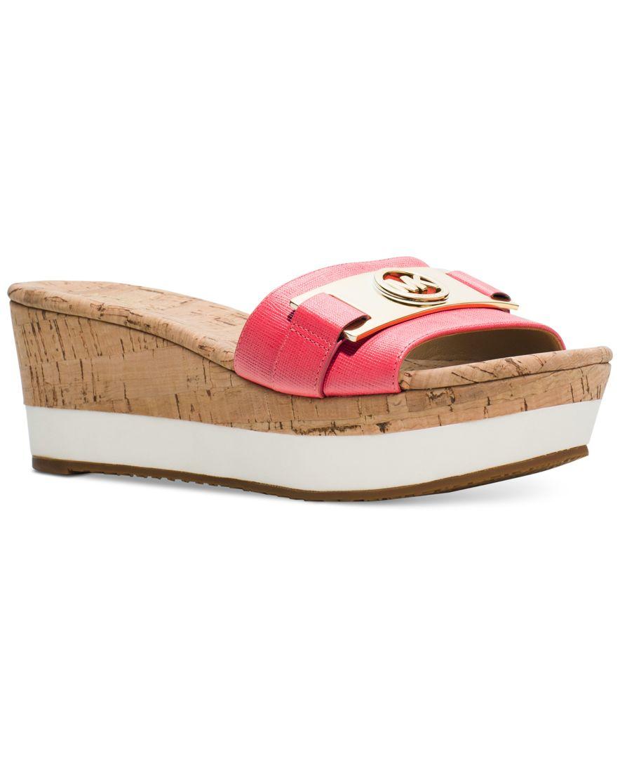 4f711e42fa3 Lyst - Michael Kors Michael Warren Platform Sandals in Pink