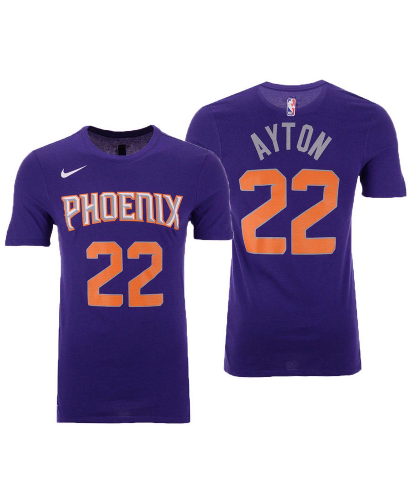 604a49f0c6fb Lyst - Nike Deandre Ayton Phoenix Suns Icon Player T-shirt in Purple ...