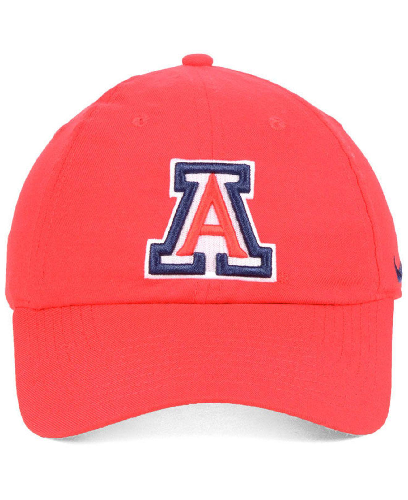 081d322890e ... cheapest lyst nike arizona wildcats core easy adjustable strapback cap  in red for men 45b4d 25bd4