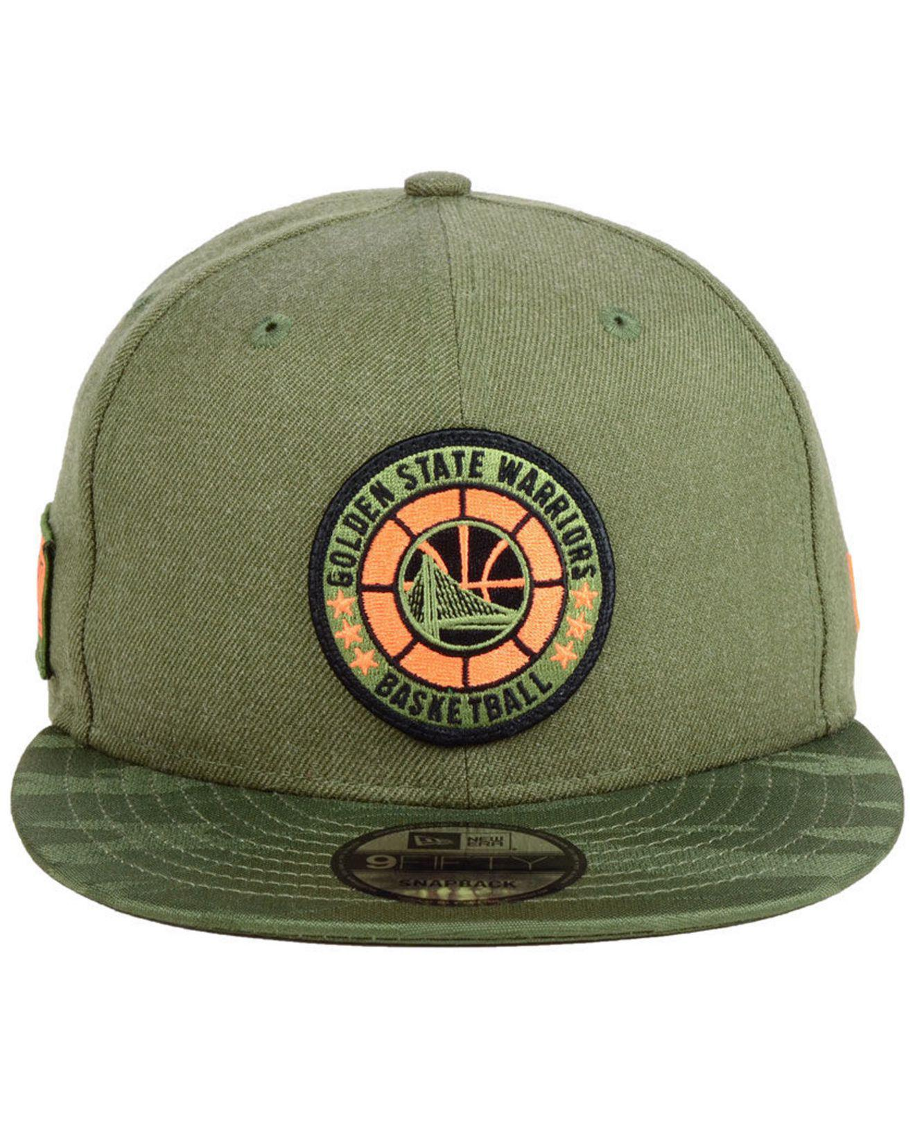 differently c9451 b9b63 ... authentic lyst ktz golden state warriors tip off 9fifty snapback cap in  green for men 38eec