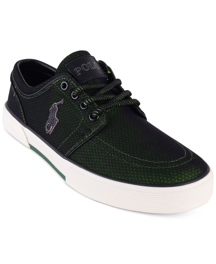 polo ralph lauren men 39 s faxon low top sneakers in black. Black Bedroom Furniture Sets. Home Design Ideas