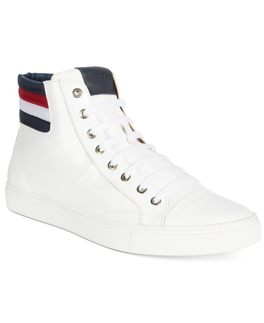 c7395bd19557 Lyst - Tommy Hilfiger Men s Mill Leather Hi-tops in White for Men