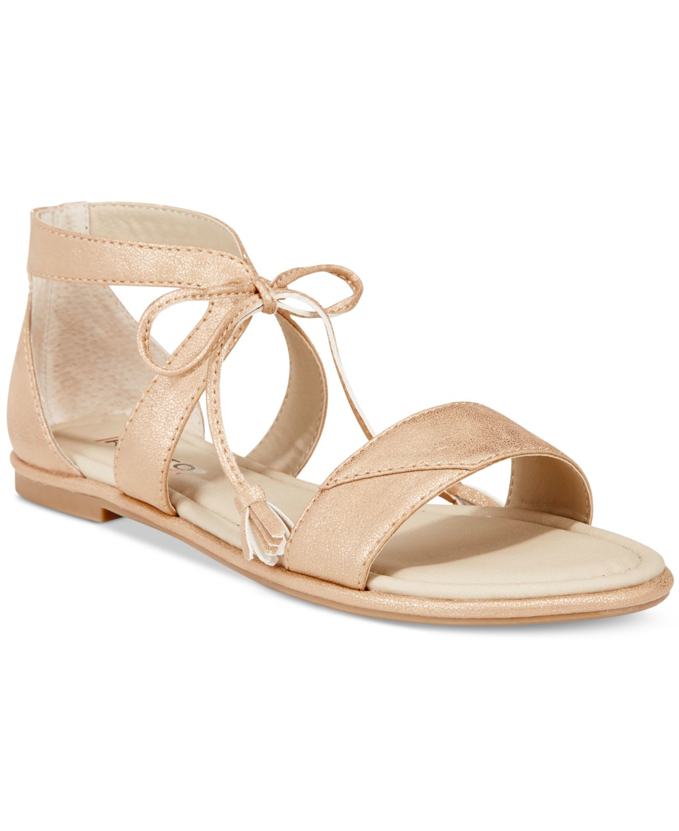 Rialto Robyn Lace-up Flat Sandals