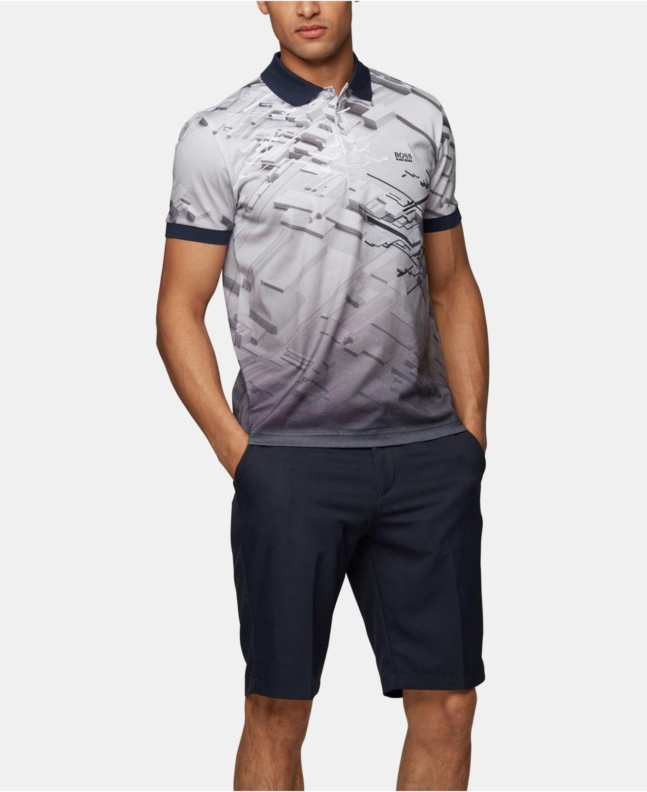 0c2991d02 BOSS Paddy 7 Regular-fit Polo Shirt in Blue for Men - Lyst